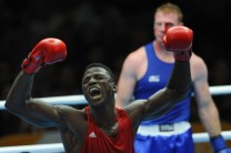 Efe Ajagba at the 20th Commonwealth Games